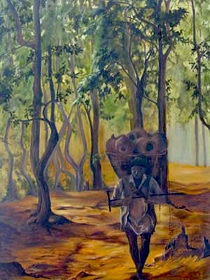 At Dawn, oil on canvas, 36X48 inches, 1998