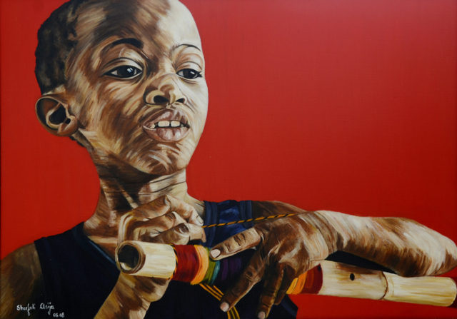 Huruma of Aruha, oil on canvas, 42X30 inches, 2008
