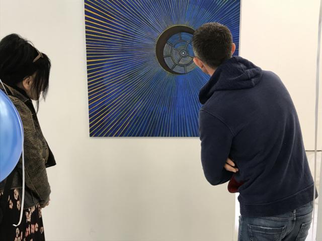 'Progressive Overdrive', oil on canvas, 110X110 cm, 2018