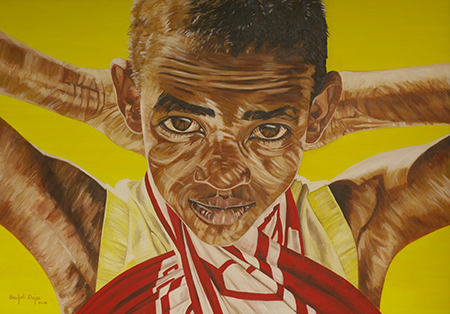 Maggie of Aruha, oil on canvas, 60X42 inches inches, 2007
