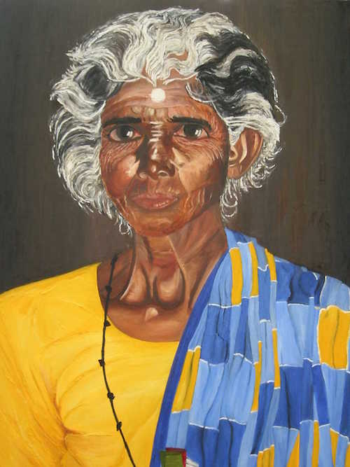 Meenakshi, oil on canvas, 24X30 inches, 2000