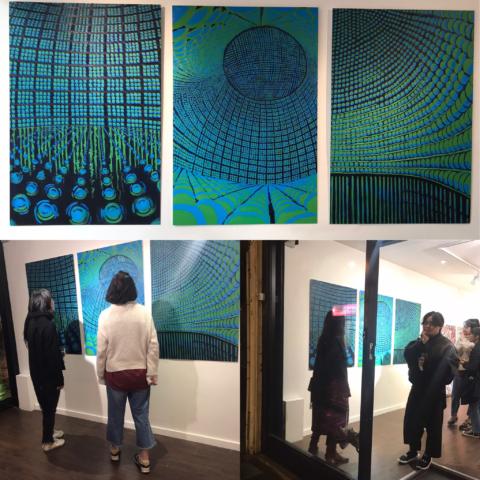 'Mimir's Well: a Triptych', oil on aluminium, 120X80 cm . each, 2019